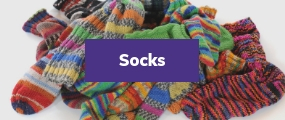 Socks for disaster relief with all time trading
