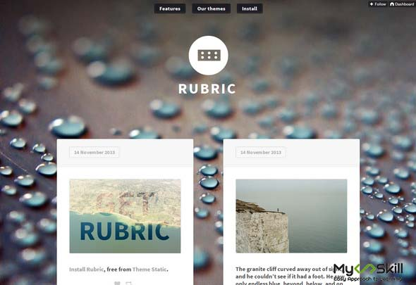 Rubic Tumblr Theme