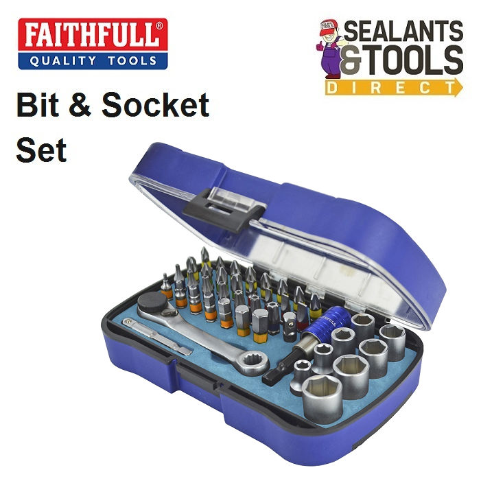 Faithfull Screwdriver Bit Socket Set XMS18BITSOCK