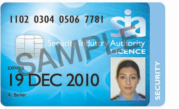 SIA Security Guard Licence - Get Licensed UK