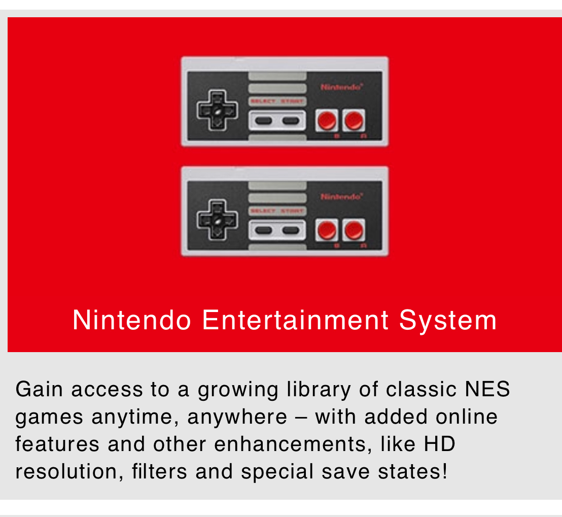 NES Games in HD, Online, Filters and Special Save - Nintendo Switch Online