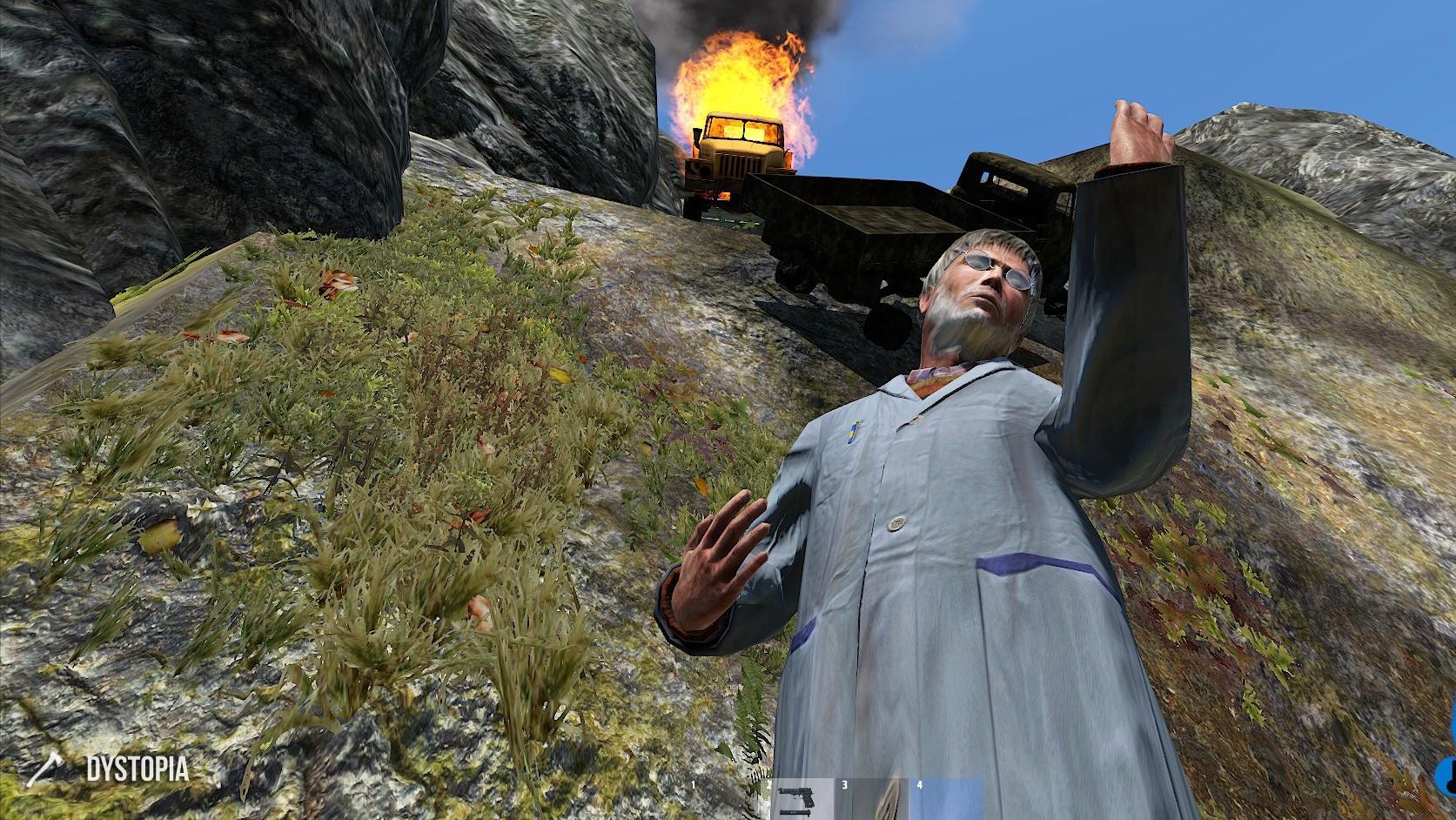 Burning Van