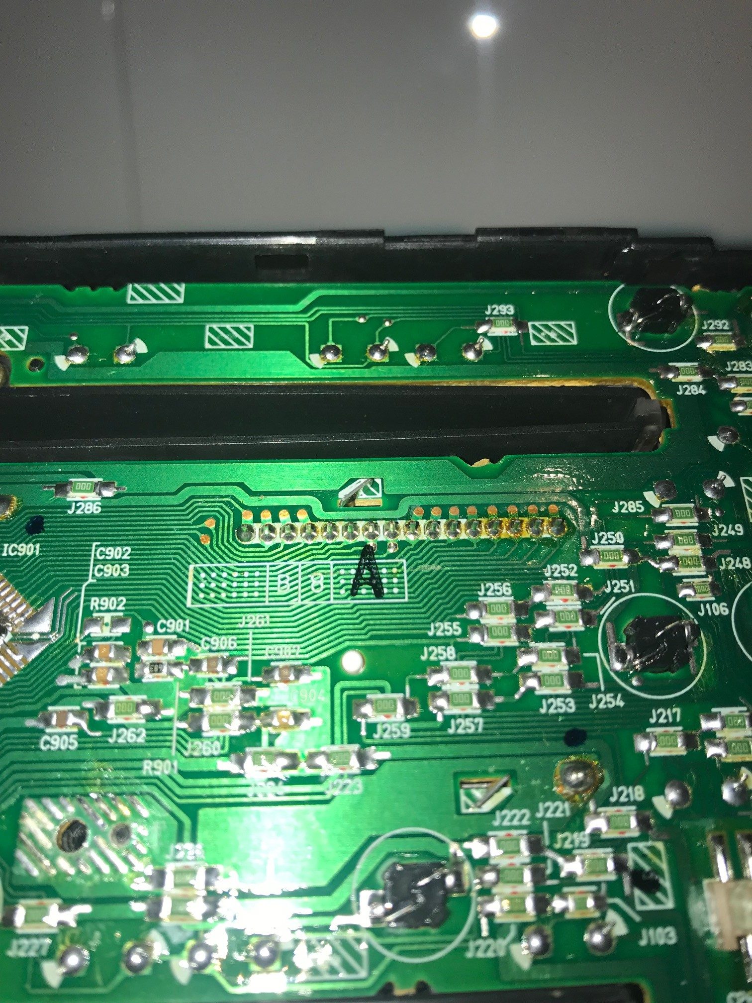 Nb Oem Radio Backlight Fault Mx 5 Miata Forum How To Check A Circuit Board I Cant Separate The From Front Plate Though Hence Access Any Lightbulbs In Order Them