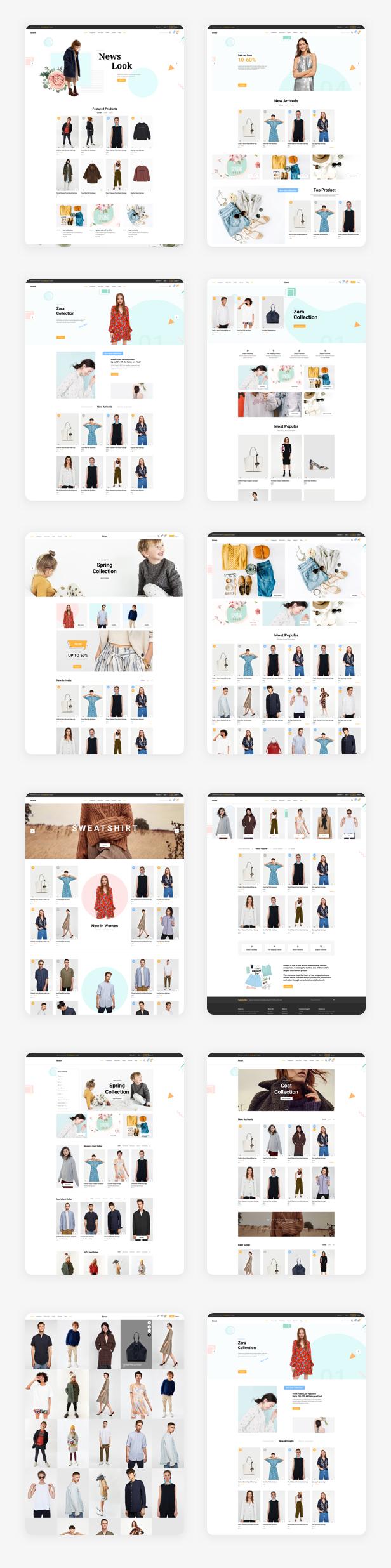 Binace - Fashion eCommerce Sketch Template - 1