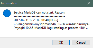 MariaDB Error