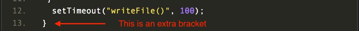 error in your code