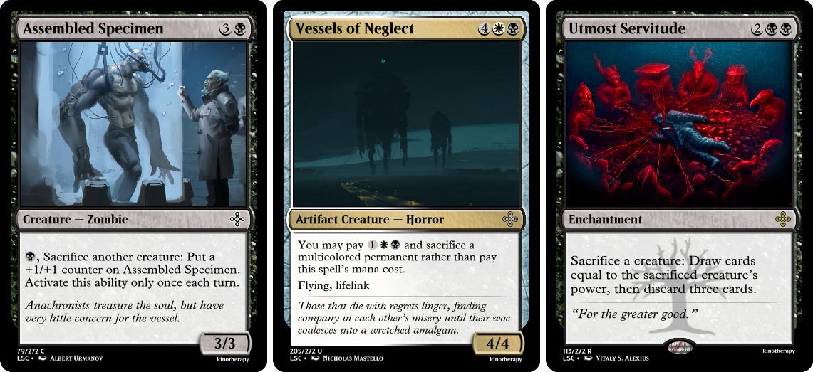 Assembled Specimen, Vessels of Neglect, Utmost Servitude