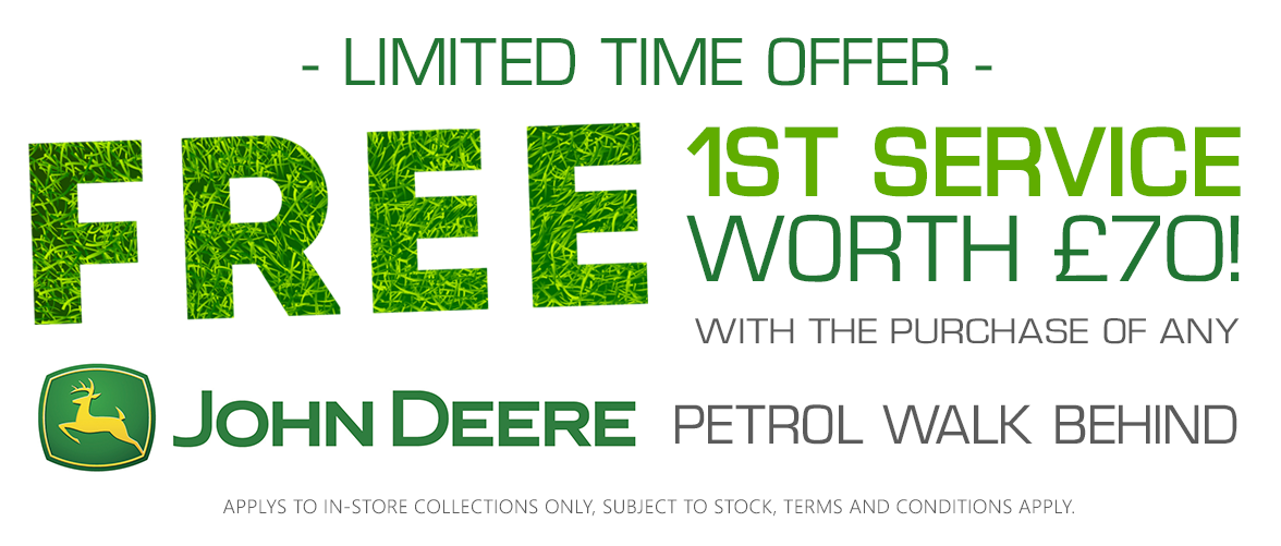 Free 1st Service when you buy any John Deere Lawnmower