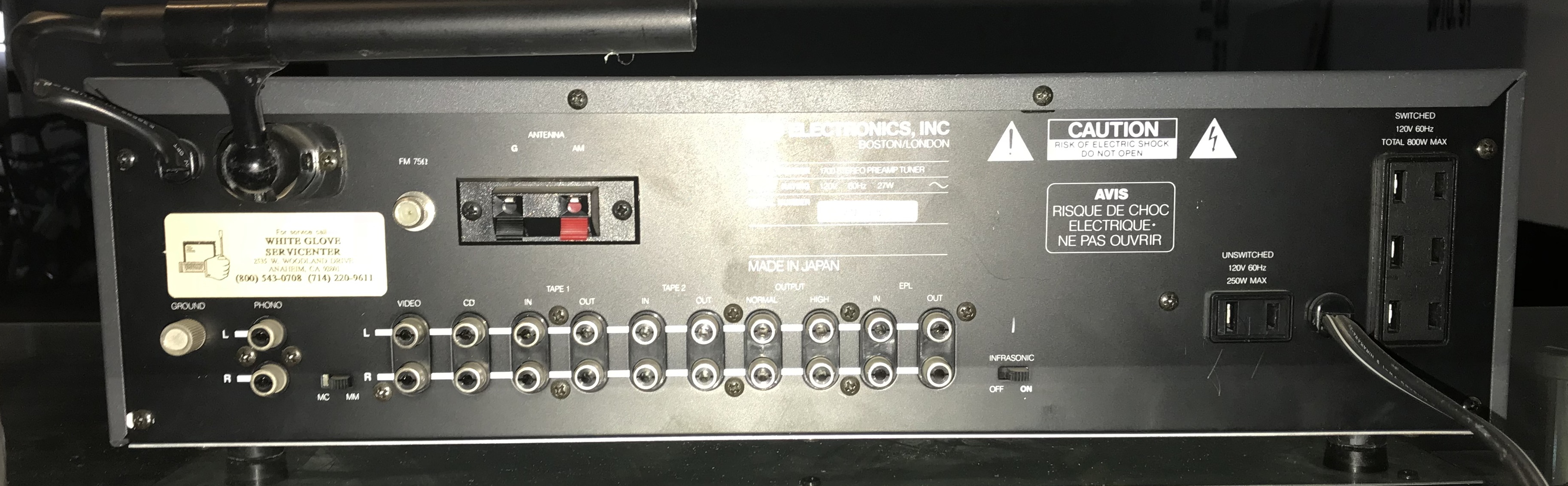 NAD_Monitor_Stereo_Receiver_Pre_Amp_Back