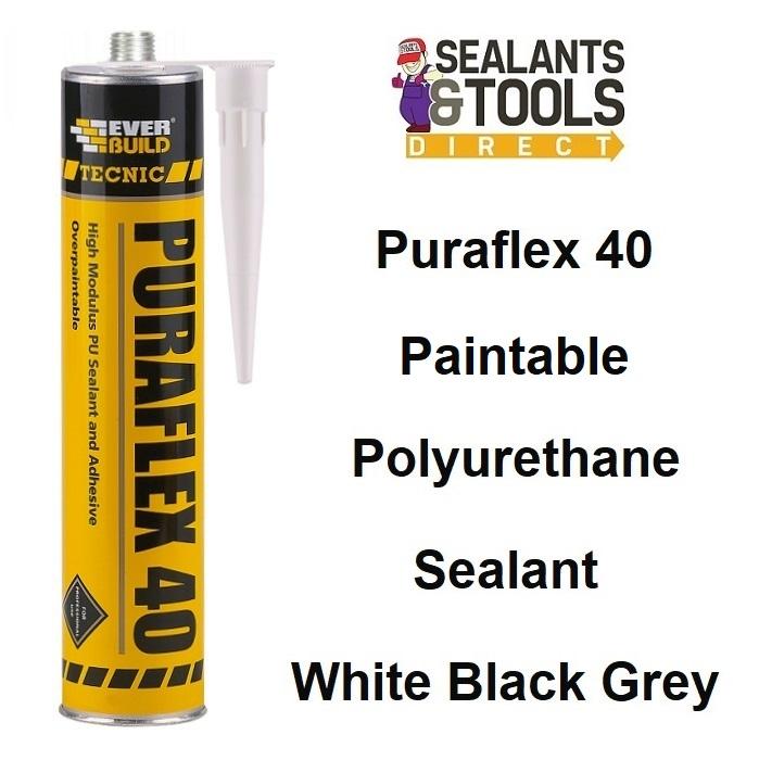 Tecnic Puraflex 40 Sealant Adhesive 290ml White Grey Black