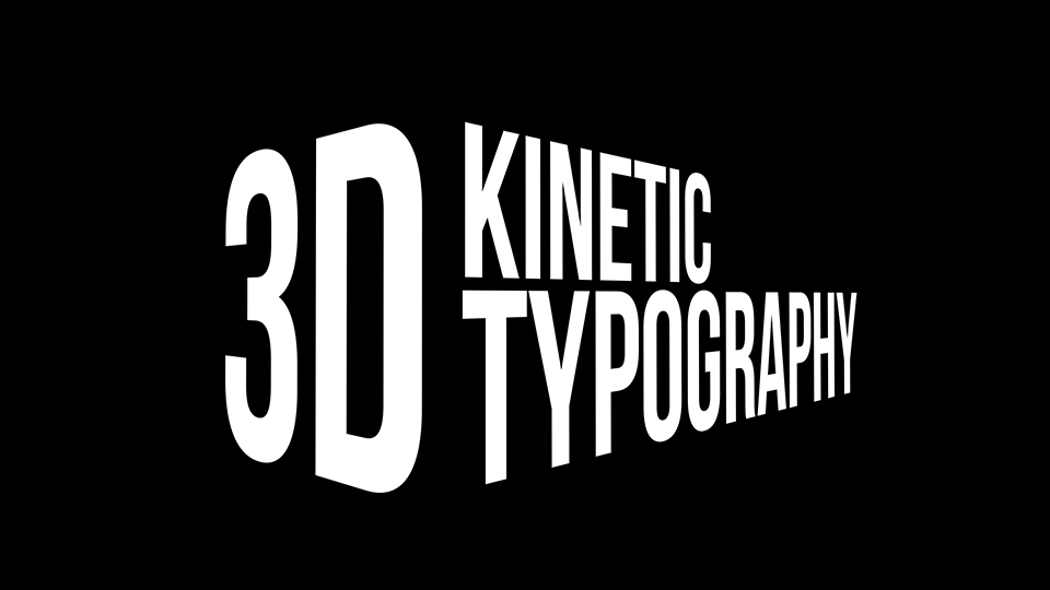 3D Kinetic Typography Titles - 14