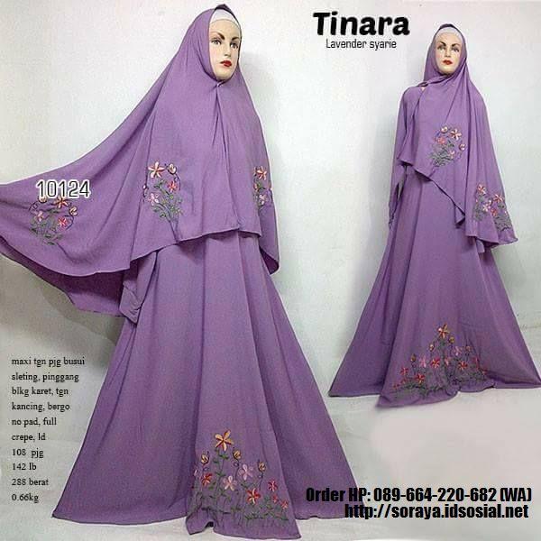 jual baju muslimah tinara lavender syarie full crape