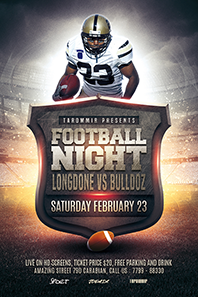 34 football night flyer