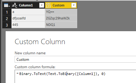 Solved: Encode a Text field - Microsoft Power BI Community