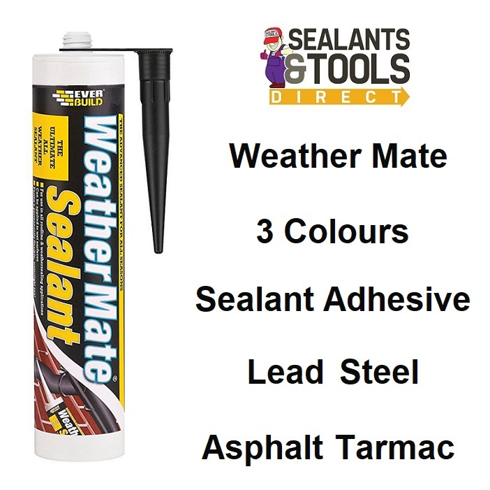 Everbuild All Weather Mate Sealant WeatherMate Black Clear White