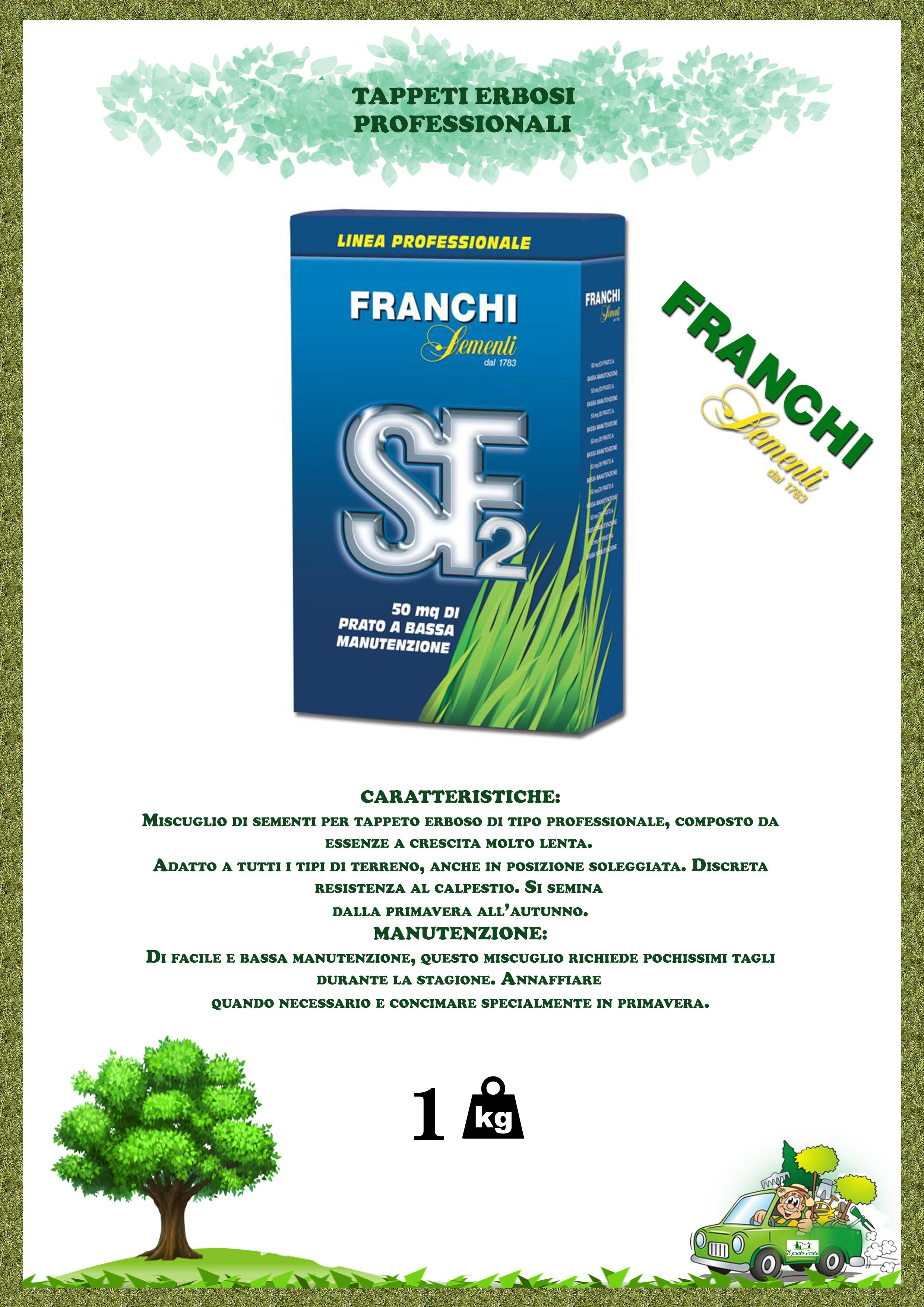 FRANCHI SEMENTI PER PRATO TIPO MISCUGLIO 1 KG