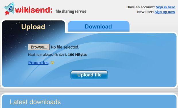 enviar archivos pesados - herramientas enviar archivos - wikisend