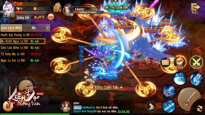 PK chiến trường đẫm máu tại Kiếm Đạo Phong Vân