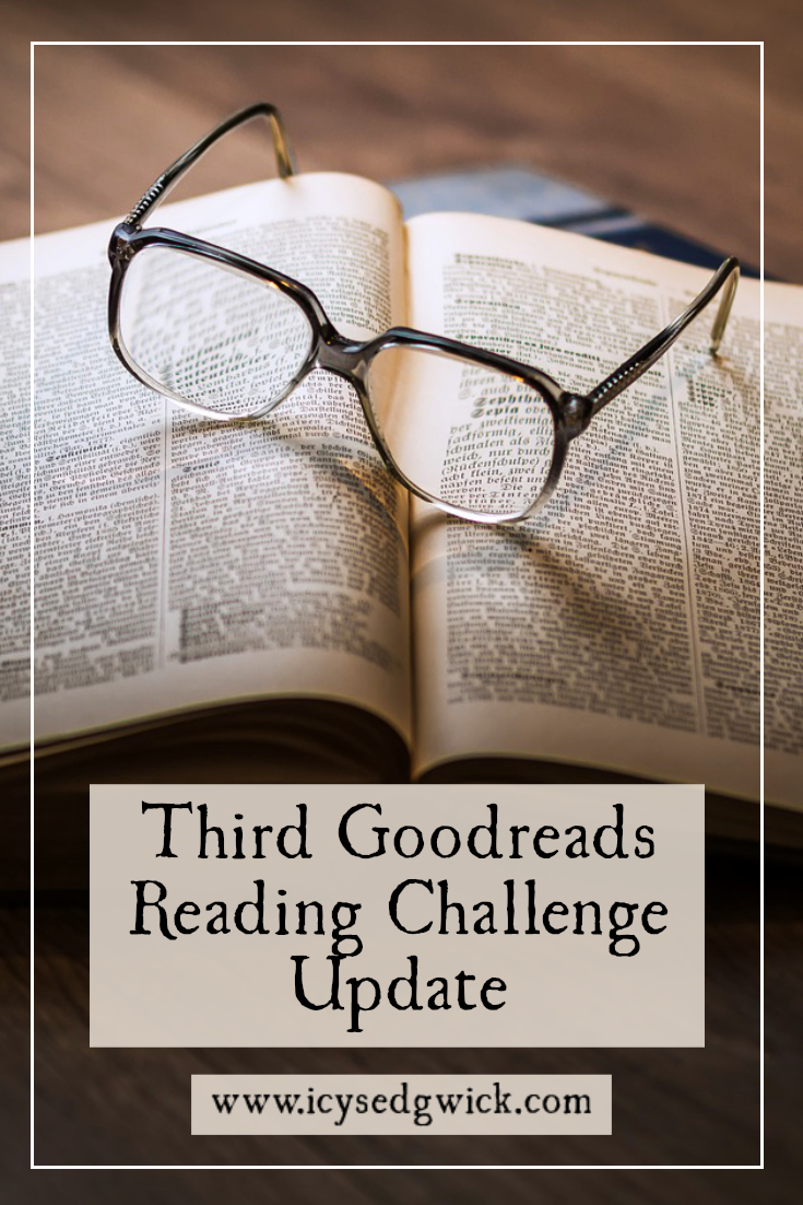 As I finish the 2017 Goodreads Reading Challenge, how many books have I read between September and December, and which novels did I finish?