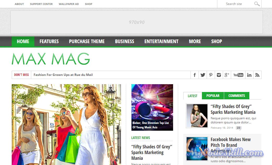 MaxMag-AMP WordPress Theme