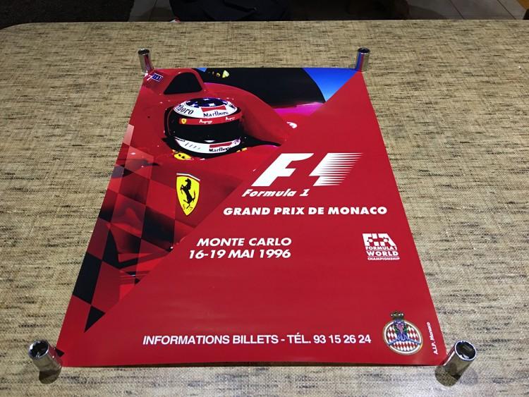 1996 F1 MONACO GRAND PRIX RACE POSTER
