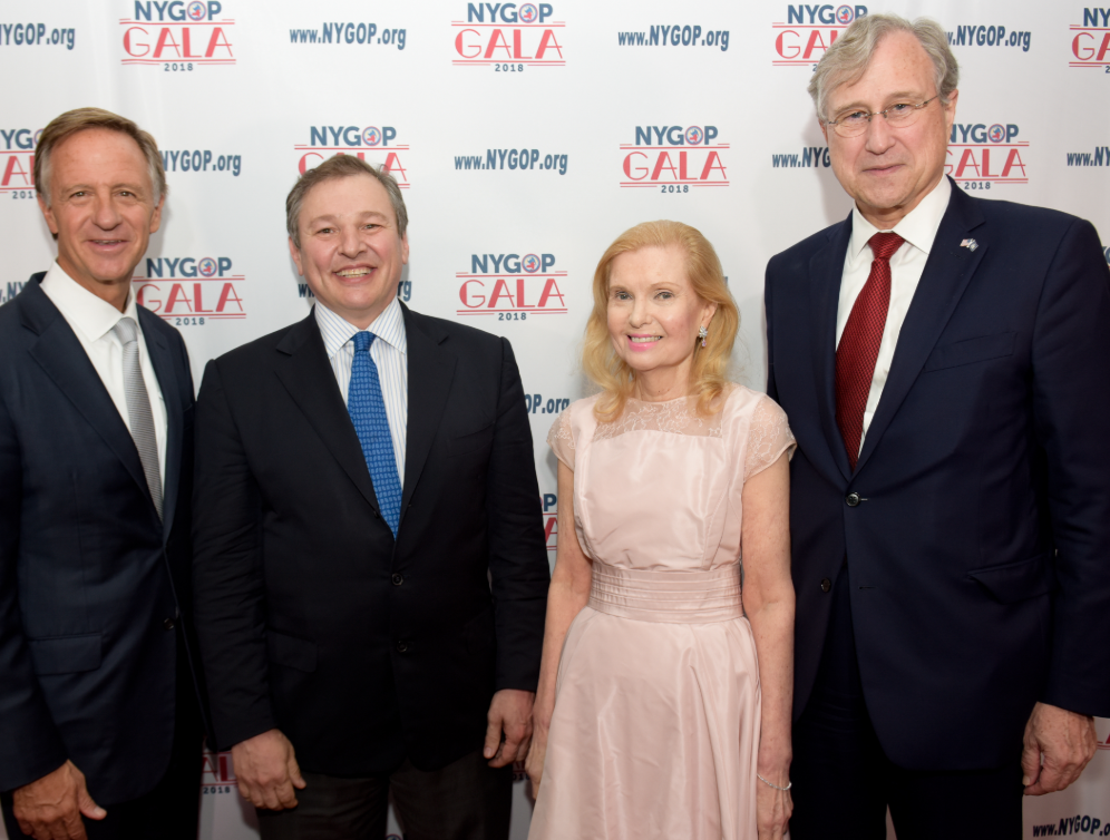 Pat LaVecchia and Bill Haslam, Governor of Tennessee, and Ed Cox (Chairman  chairman of the New York Republican State Committee) and his wife Tricia Nixon Cox