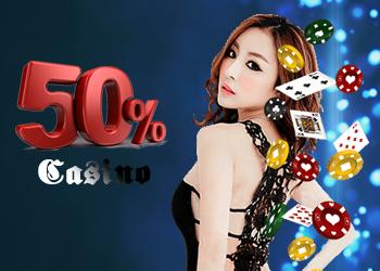 Register Casino 50%