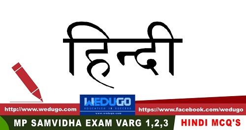 Hindi MCQ