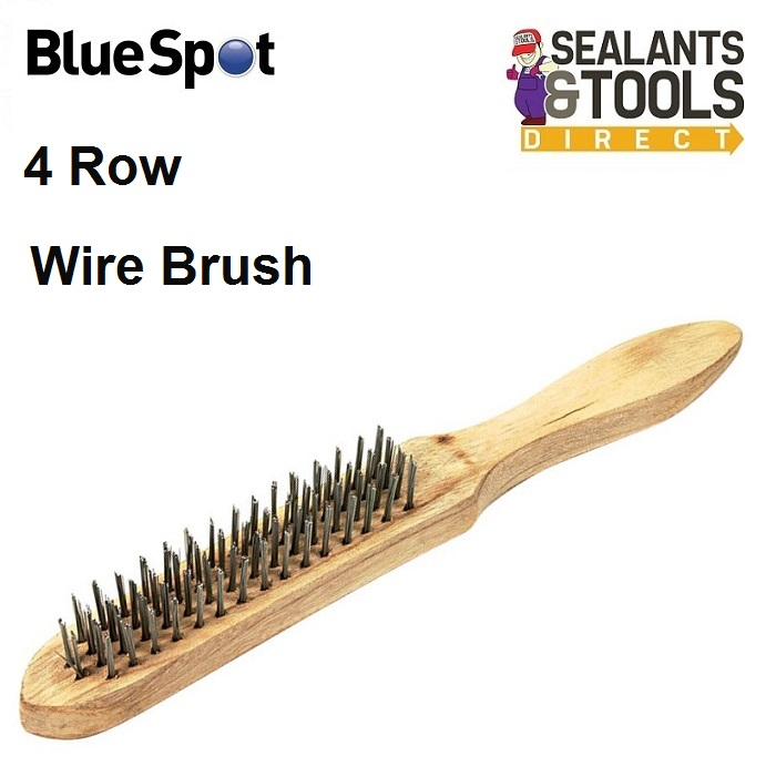 Blue Spot 4 Row Hand Wire Brush 22501