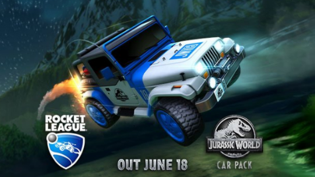 ROCKET LEAGUE Goes Prehistoric With The Announcement Of JURASSIC WORLD: FALLEN KINGDOM Tie-In DLC