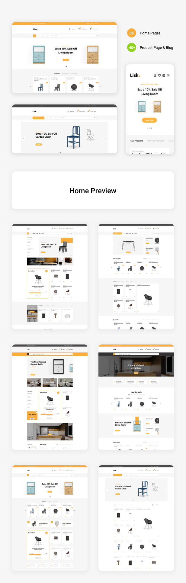 Lisk - Furniture eCommerce Sketch Template - 2