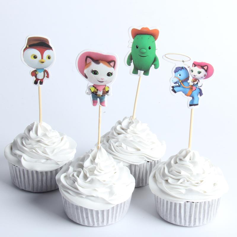 Prime 12 X Sheriff Callie Cake Picks Cupcake Toppers Kids Birthday Party Personalised Birthday Cards Sponlily Jamesorg