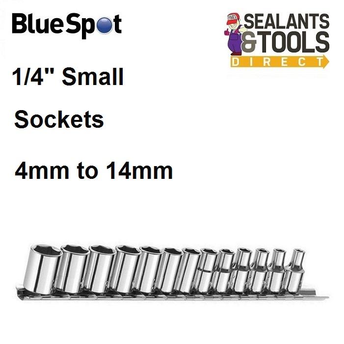 Blue Spot Socket Set On Rail 01523 1/4 Inch
