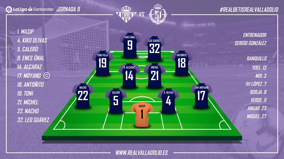 Real Betis Balompié - Real Valladolid. Domingo 21 de Octubre. 20:45 - Página 2 Alineacion-vs-betis