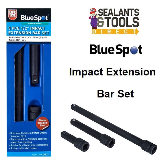 Bluespot tools impact extension bar set 02071