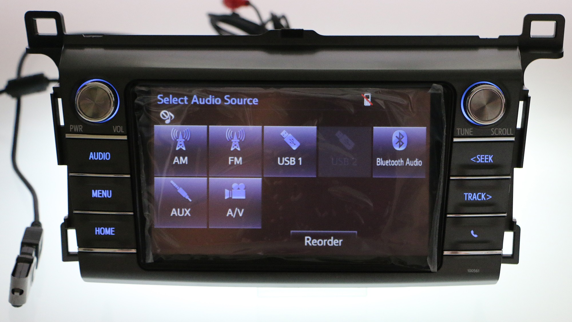Toyota RAV4 Owners Manual: Registering a bluetoothaudio player for thefirst time