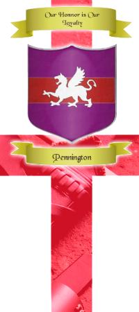 Honneur et Justice, la devise des Pennington Pennington_E
