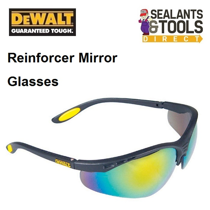 Dewalt Reinforcer Mirror Safety Sun Glasses DEWSGRFFM