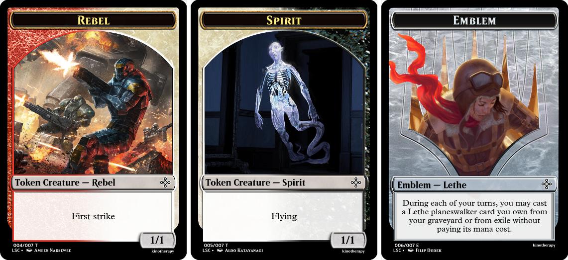 Rebel Token, Spirit Token, Lethe Emblem