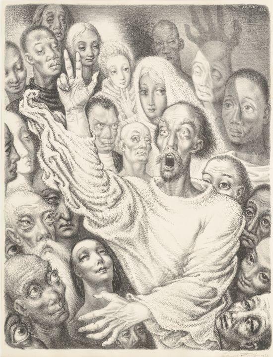 Eduard Wiiralt Preacher 1930
