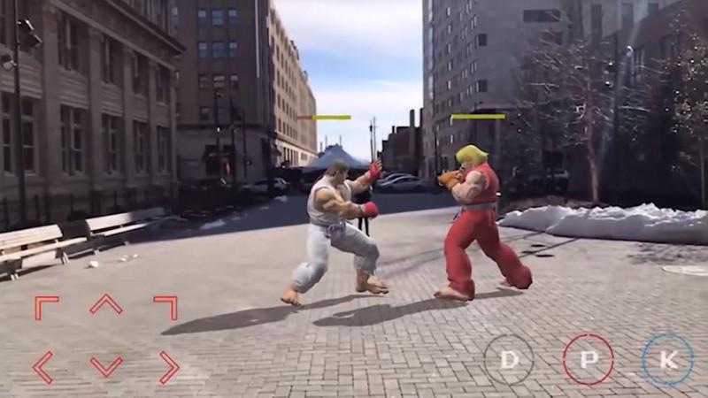 fan made, game ar, game tăng cường thực tế ảo, game đối kháng, pokemon go, street fighter, super mario bros