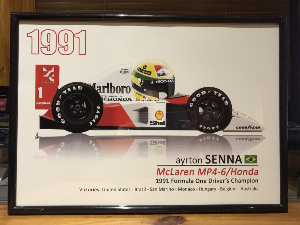 1991 ayrton senna f1 race poster dvd toonz