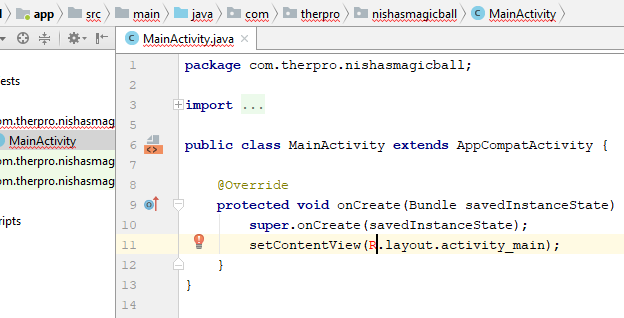 Why Mainactivityjava Showing Error Solved Android Forum At