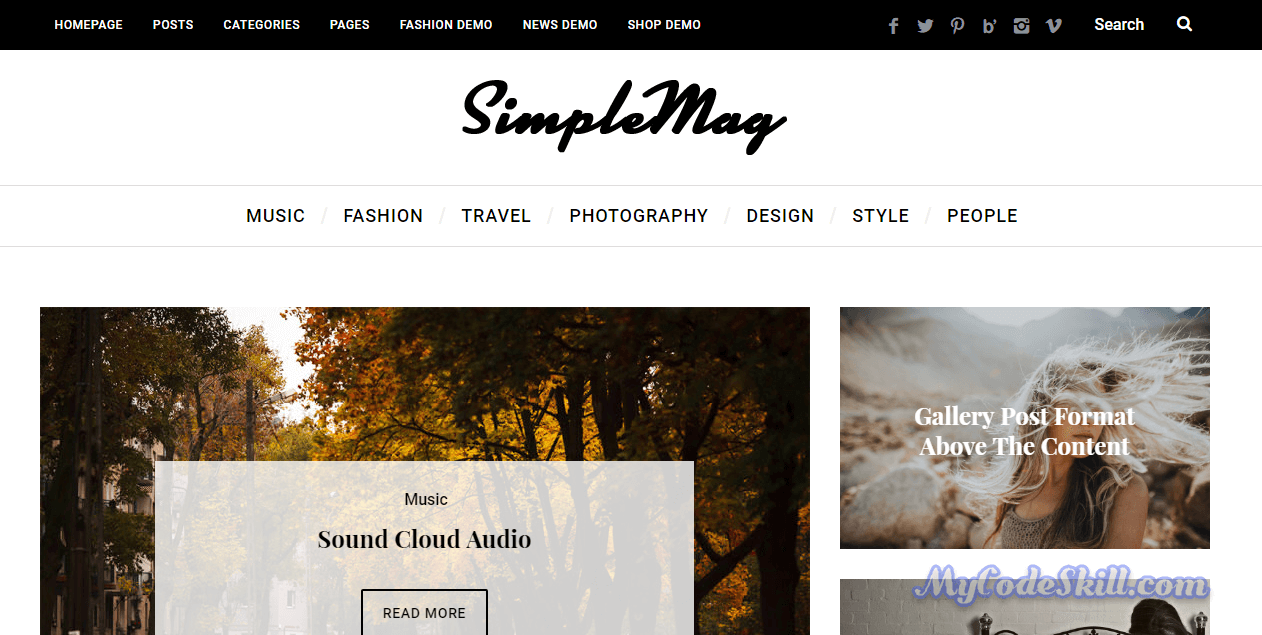AMP WordPress Theme - Simplemag