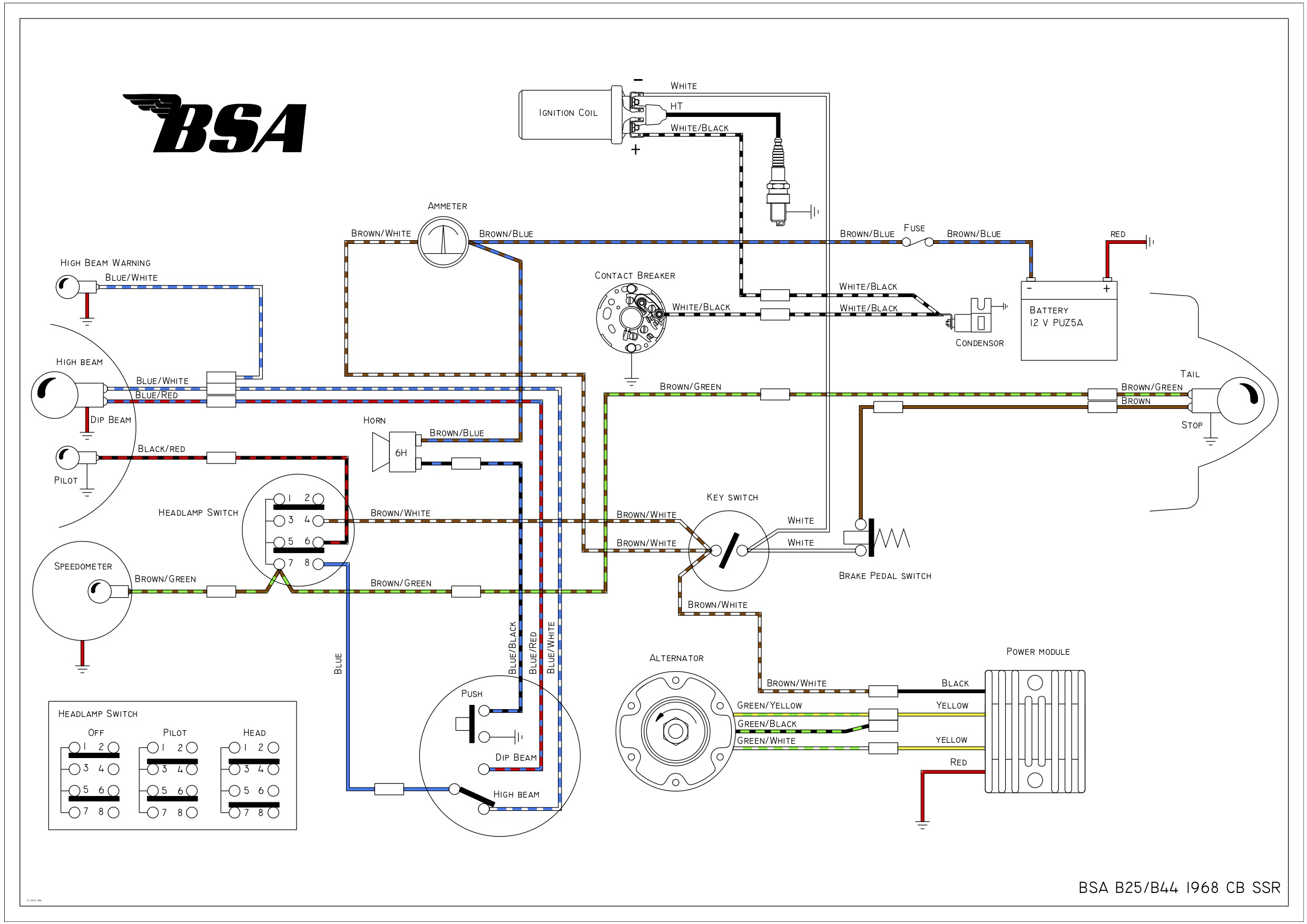 Bsa C15 Wiring Diagram 2009 Escalade Fuel Filter Begeboy Wiring Diagram Source