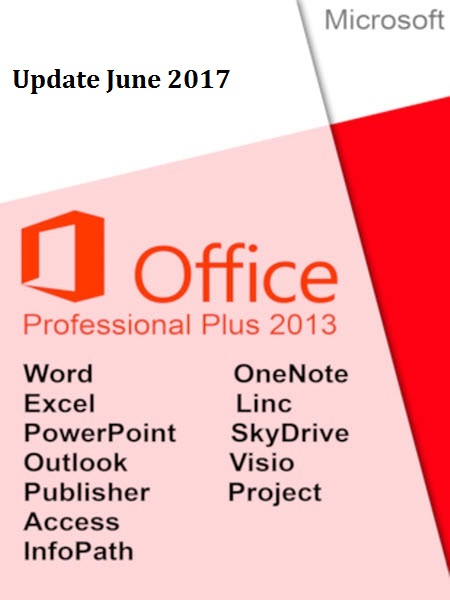 Office 2013 SP1 Pro Plus v15.0.4937.1000 (x86-x64) June 2017