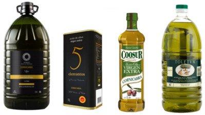 Aceite de oliva Cornicabra, aceite de oliva Virgen extra garrafas 1, 2 y 5 litros