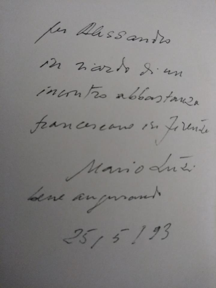 Dedica autografa di Mario Luzi