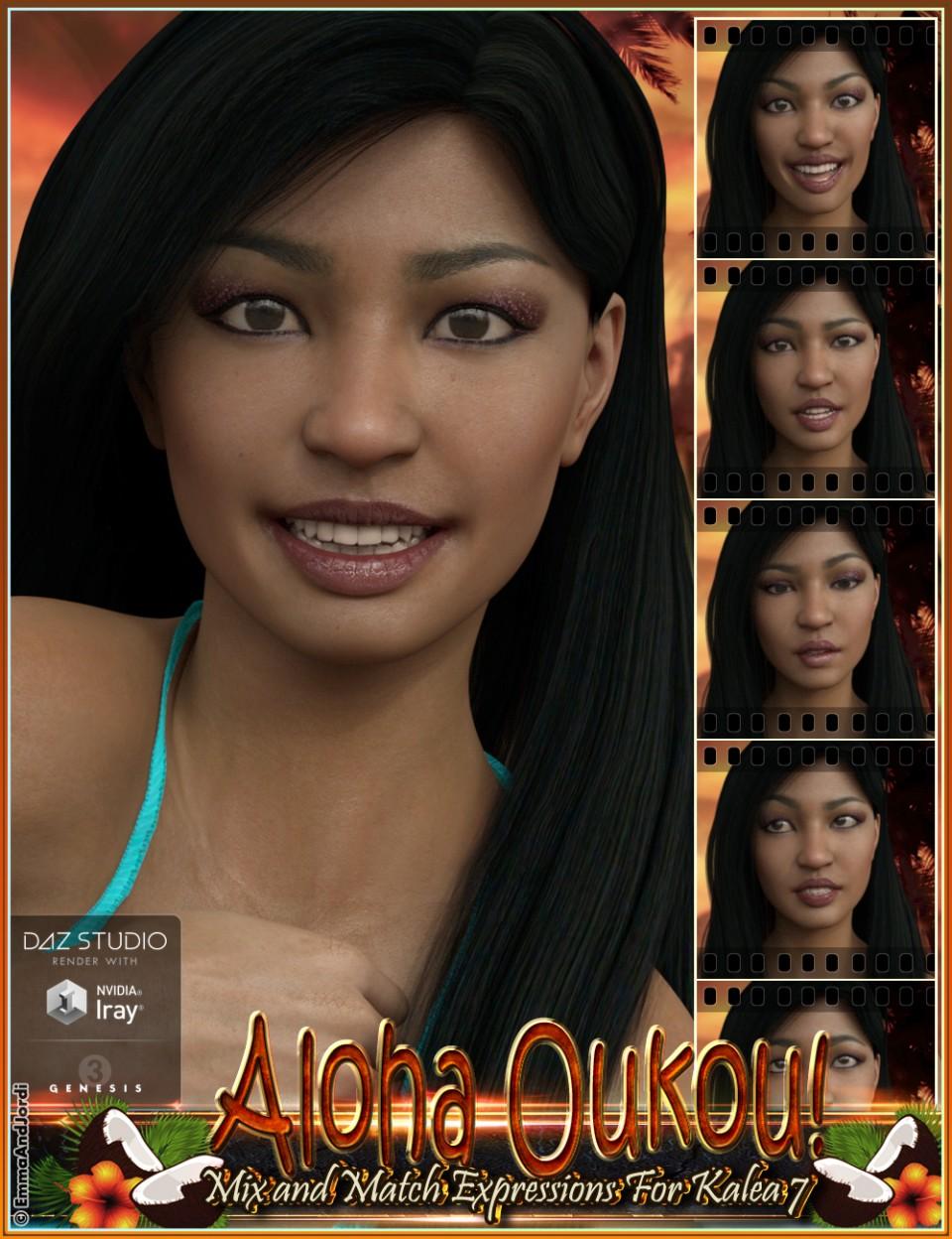 Aloha Oukou Mix and Match Expressions for Kalea 7 and Genesis 3 Female(s)