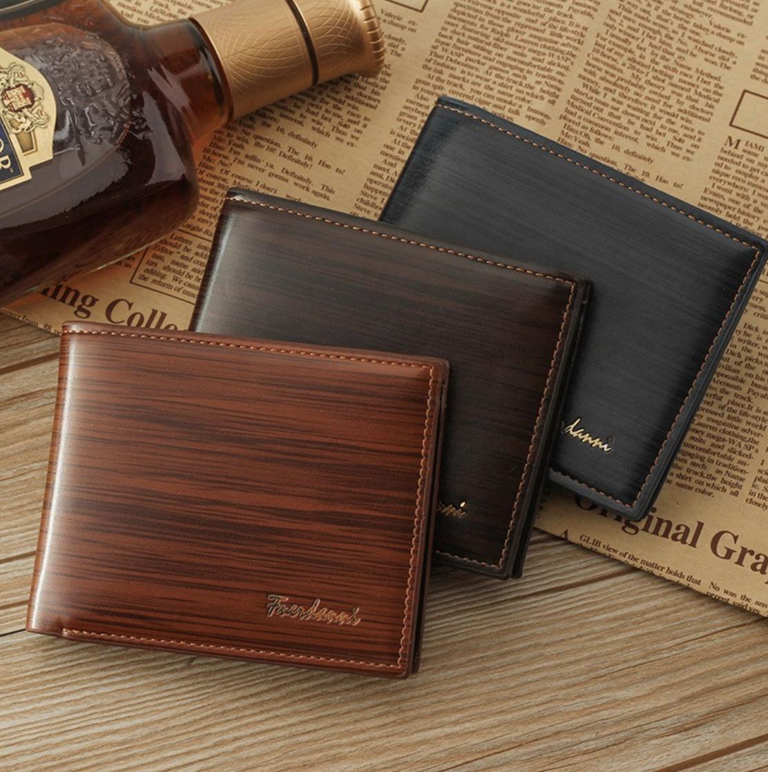 24d049926beb Details about Men's Fuerdanni Wallet for Men Vintage Style Model Glossy  Billford For Gentlemen